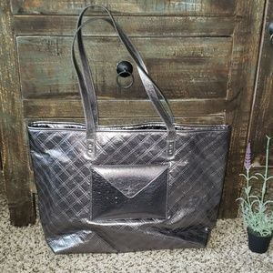 """5/$25"" Silver Bath & Body Works Tote Bag"